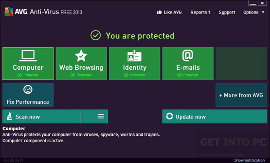 avg internet security 2013 free  for windows xp