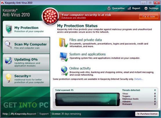 Kaspersky Antivirus 2010 Offline Installer Download