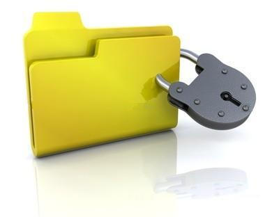 how to lock a folder with password