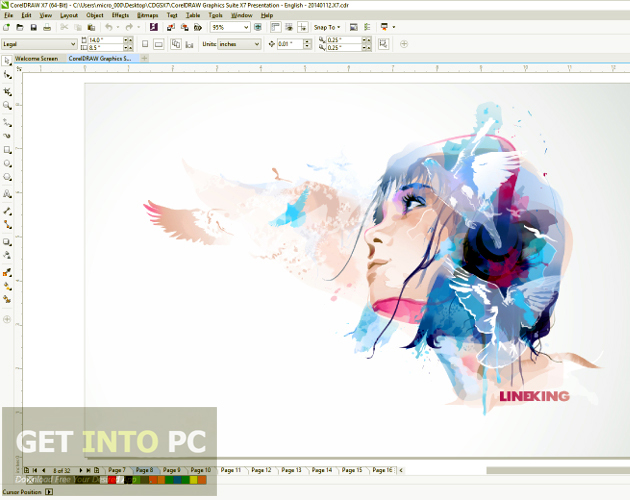 color draw graphics suite x7 free