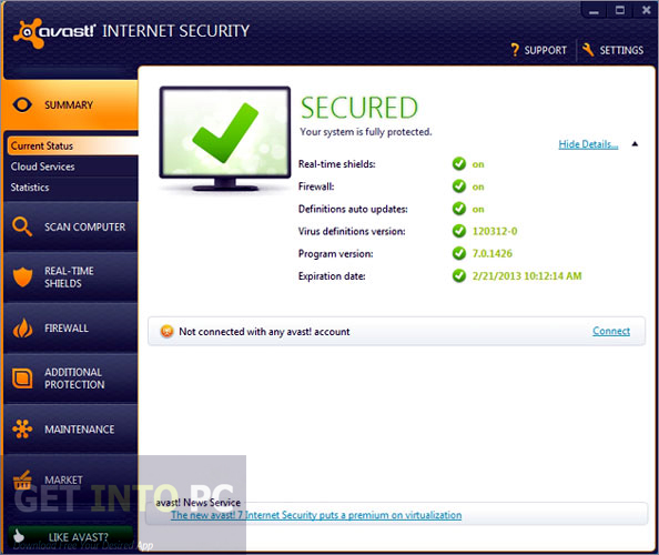 Avast Internet Security 2013 Direct Link Download