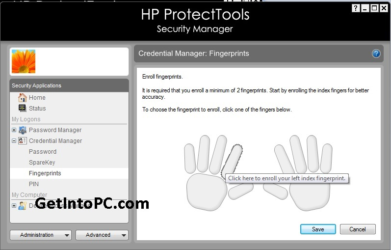 setp fingerprint password on hp probook laptop