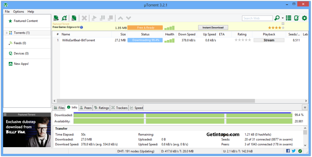 Free Download uTorrent