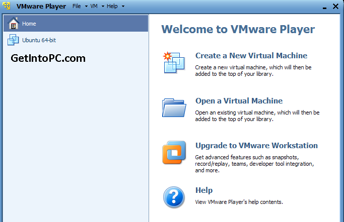 Vmware Player Download features
