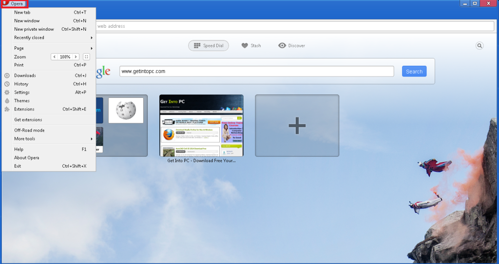 how to change proxy settings in opera