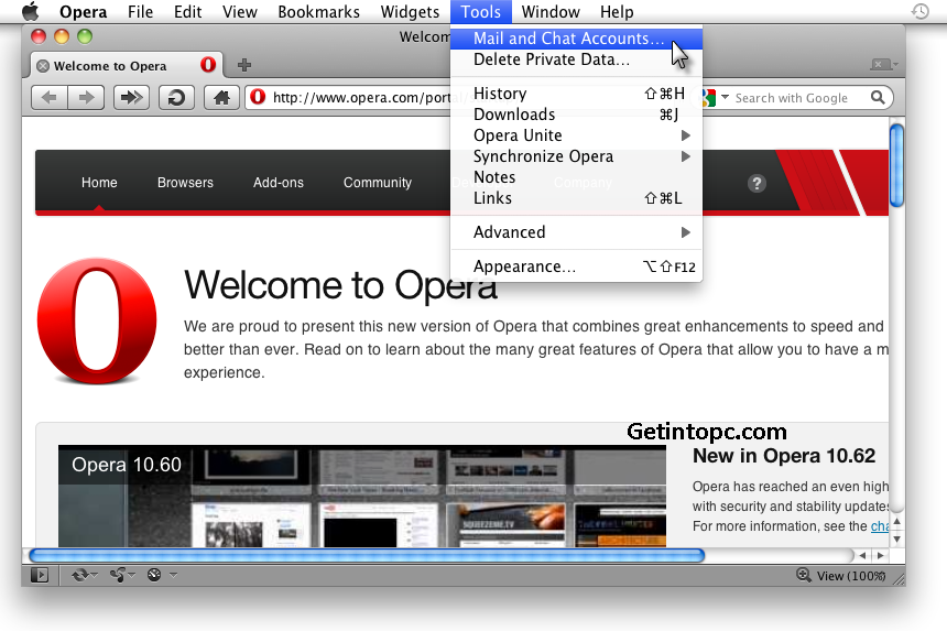 opera free download for Mac OS X
