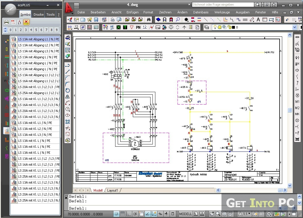 Automotive Wiring Diagram Drawing Software : Autocad electrical download free