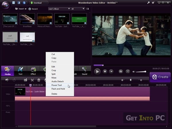 Wondershare video editor free download to edit videos.