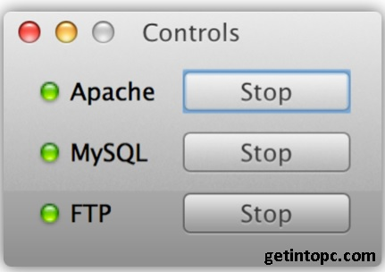 xampp control on Mac OS