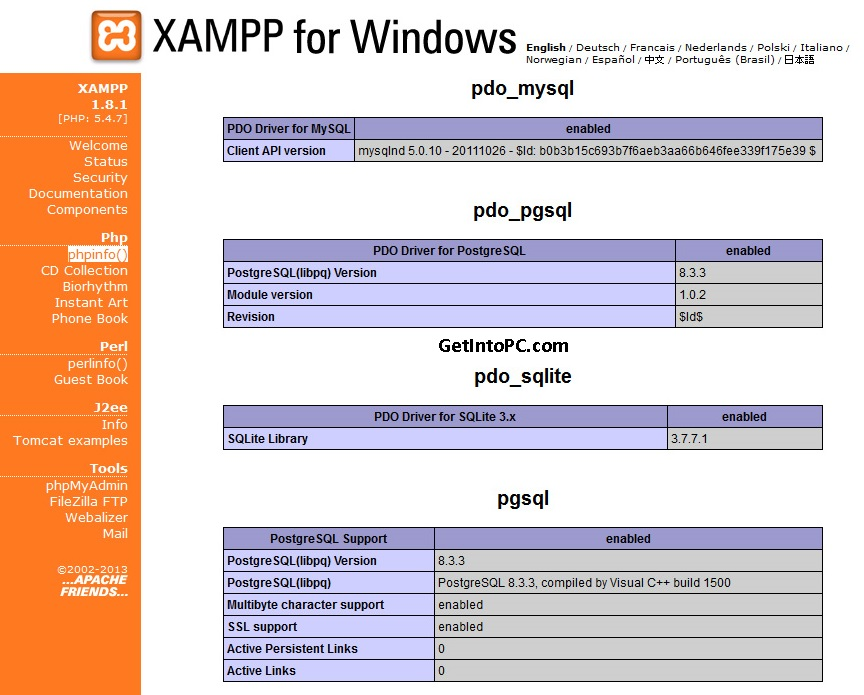 xampp download for Mac