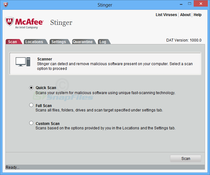 mcafee Stinger Interface download