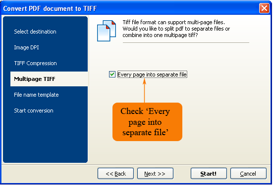 Total PDF Converter to TIFF formats