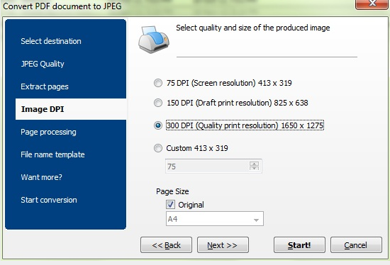 Total PDF Converter settings
