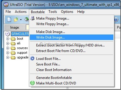 How to Use UltraISO To Make Bootable CD DVD and Mount ISO