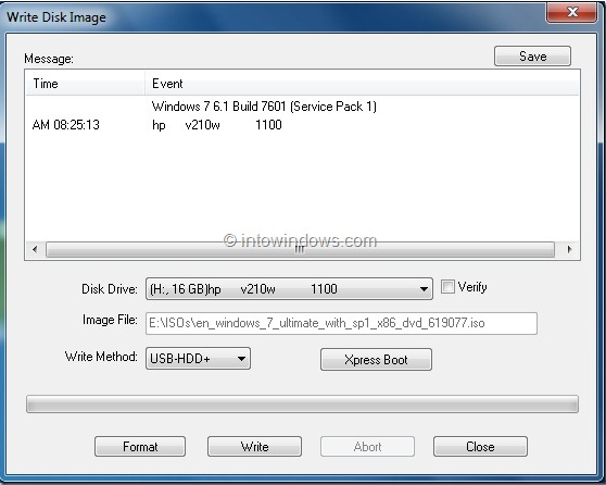 burn iso using ultraISO