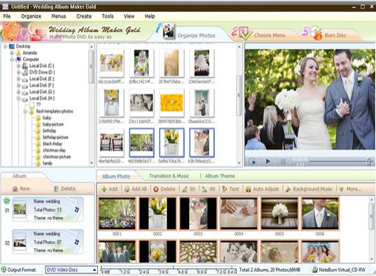 How to use Wedding Album Maker Gold