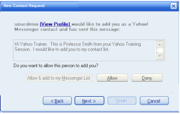 Use Yahoo Messenger for friends