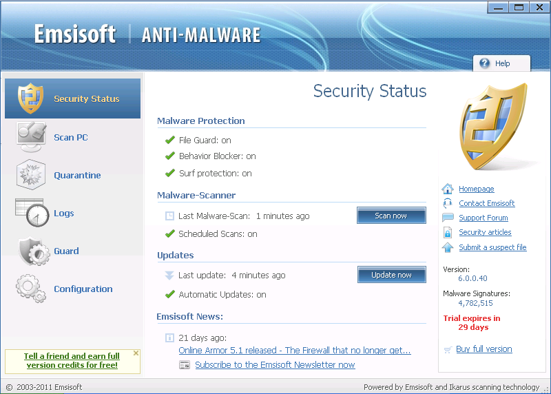 Emsisoft Anti-Malware Free Download setup