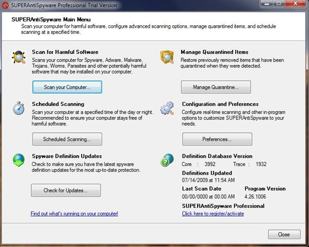 SUPERAntiSpyware Free Download setup