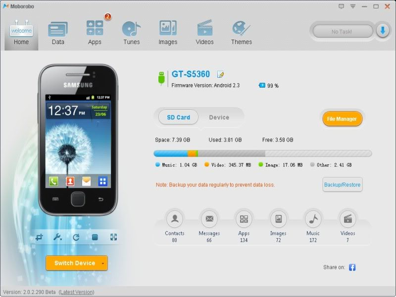 samsung handy sync software