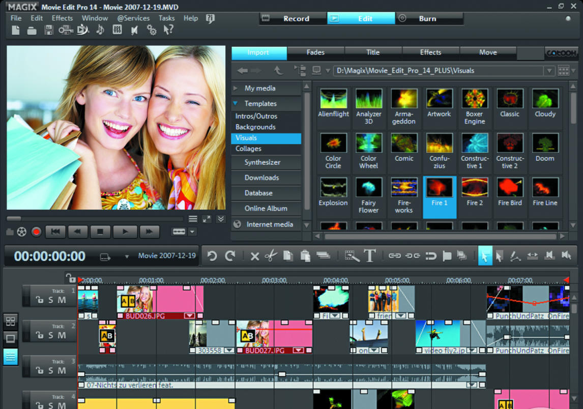 Photo Editing All in all Magix Movie Editor