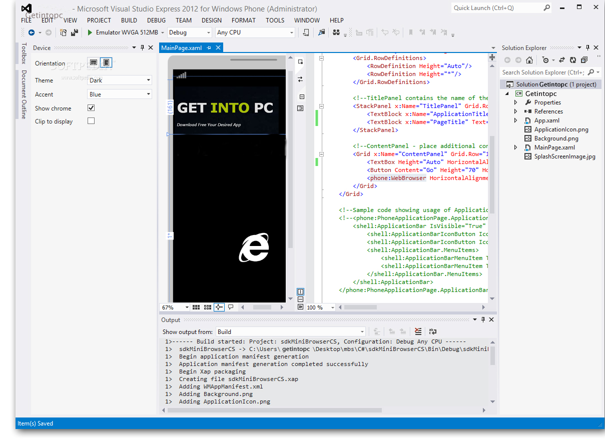 Windows Phone SDK Free Download