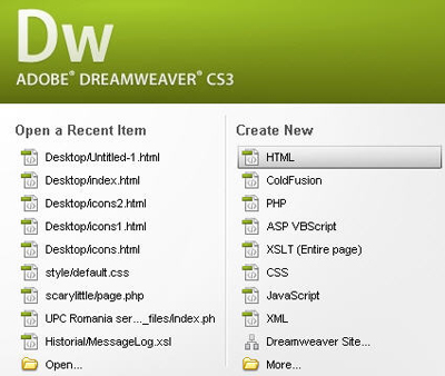 Dreamweaver CS3 software download