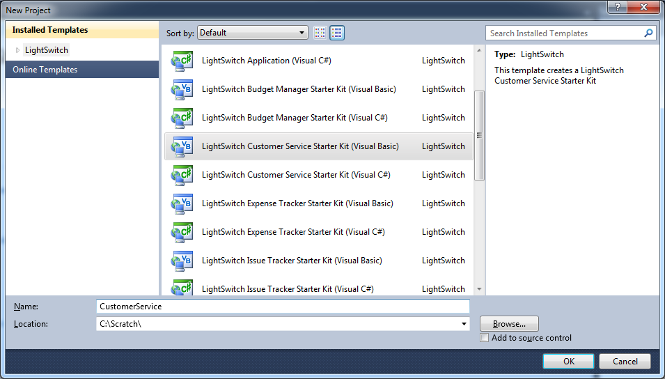 Visual Studio LightSwitch 2011 Free Download