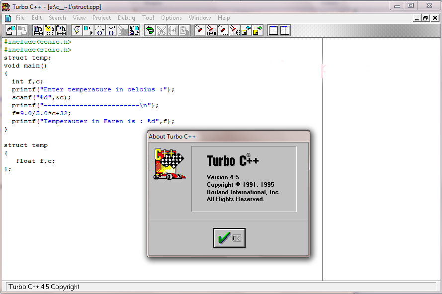 Turbo c software setup for windows 7 download.