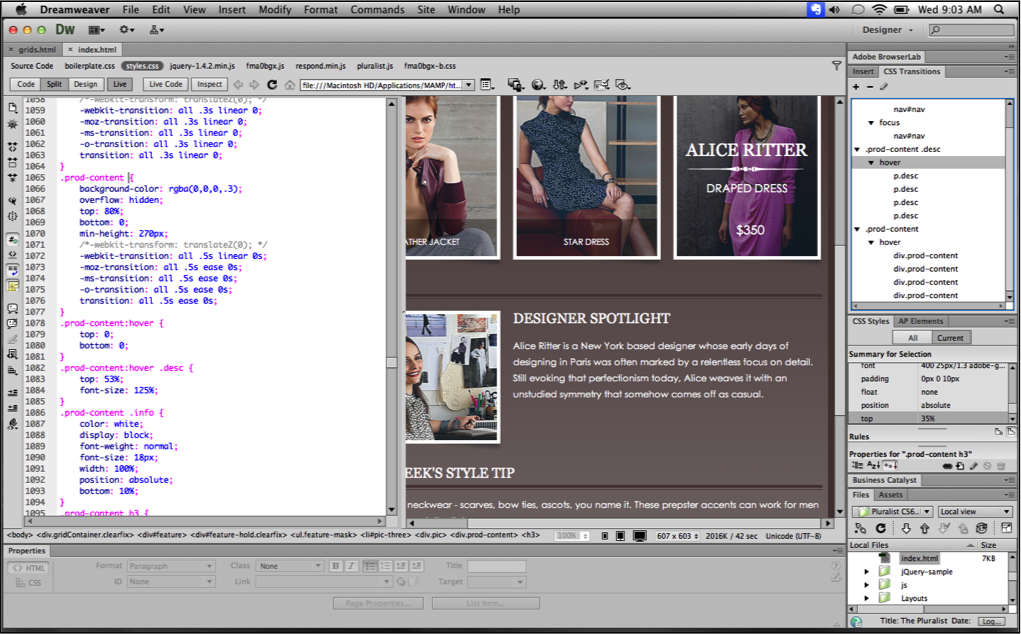 Full Adobe Dreamweaver CS6 screenshot