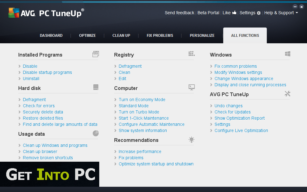 AVG PC TuneUp 2014 Download Full Setup