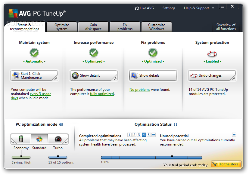 AVG PC Tuneup 2013 download free
