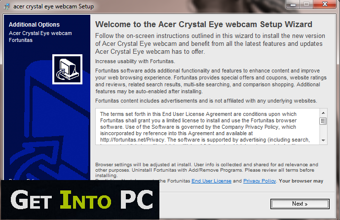Acer Crystal Eye Webcam Features