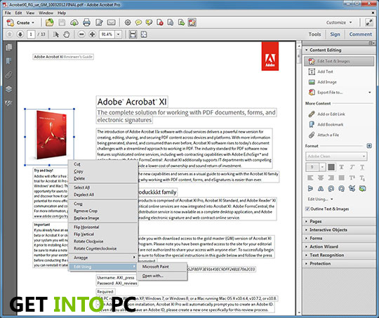 Adobe Acrobat XI Setup Free Download