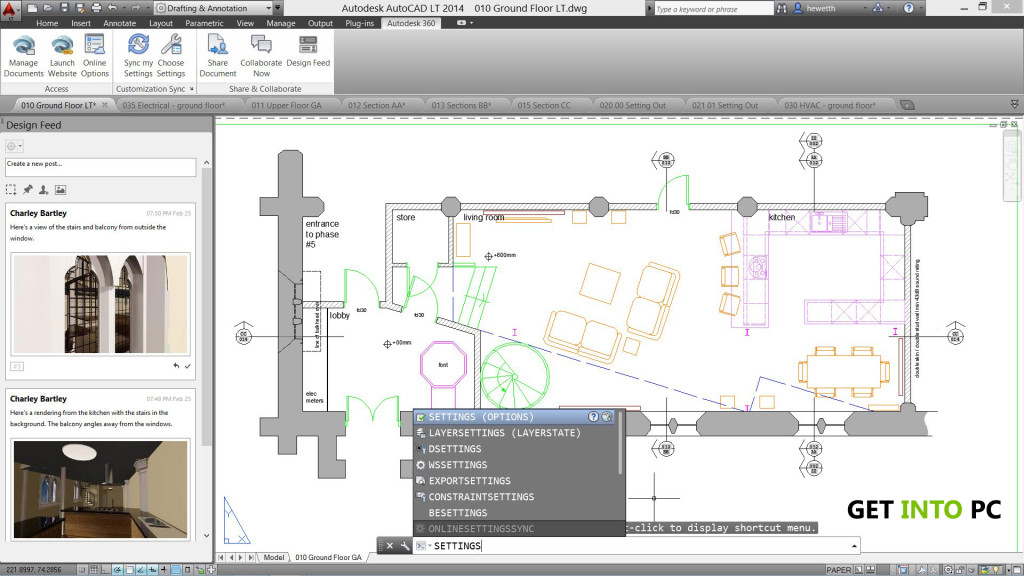 AutoCAD LT 2014 Features