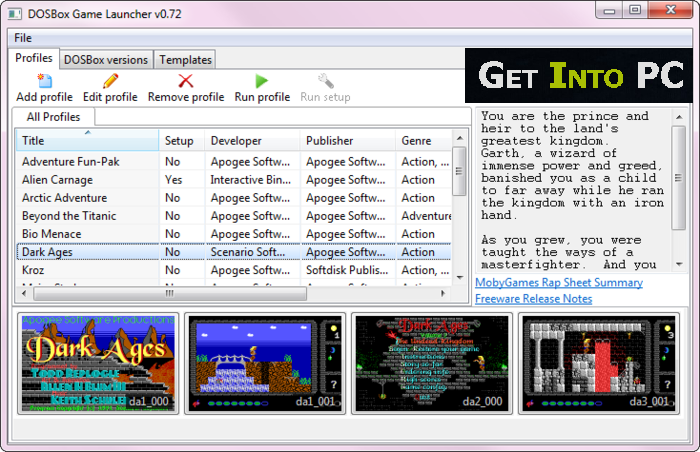 Dosbox Features