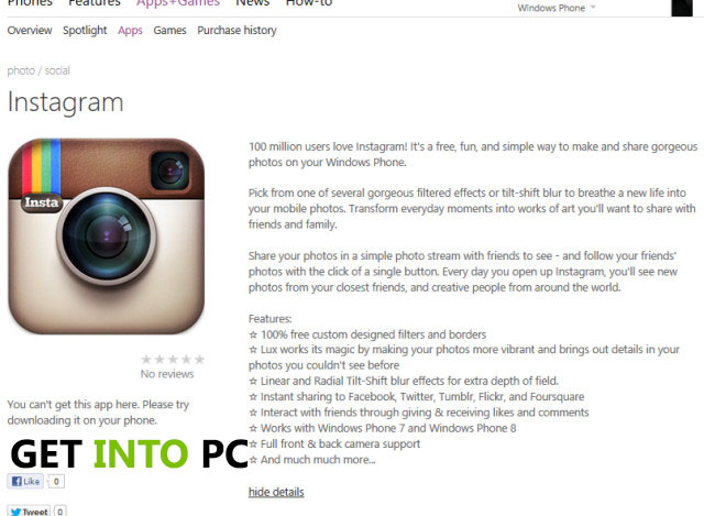 Instagram for Windows Download