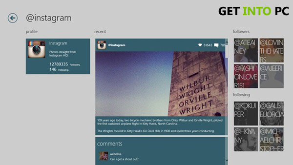 Instagram for Windows Features