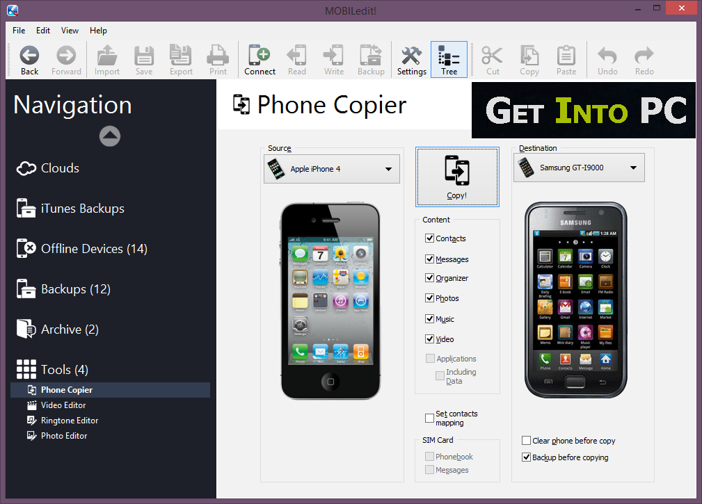 MOBILedit Phone Copier Free Download
