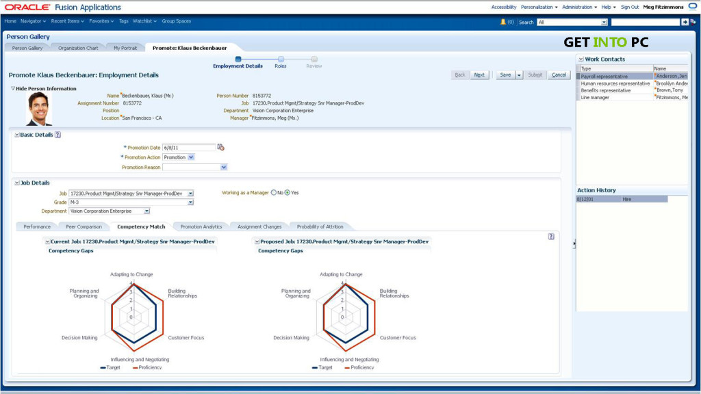 Oracle Fusion Application Features