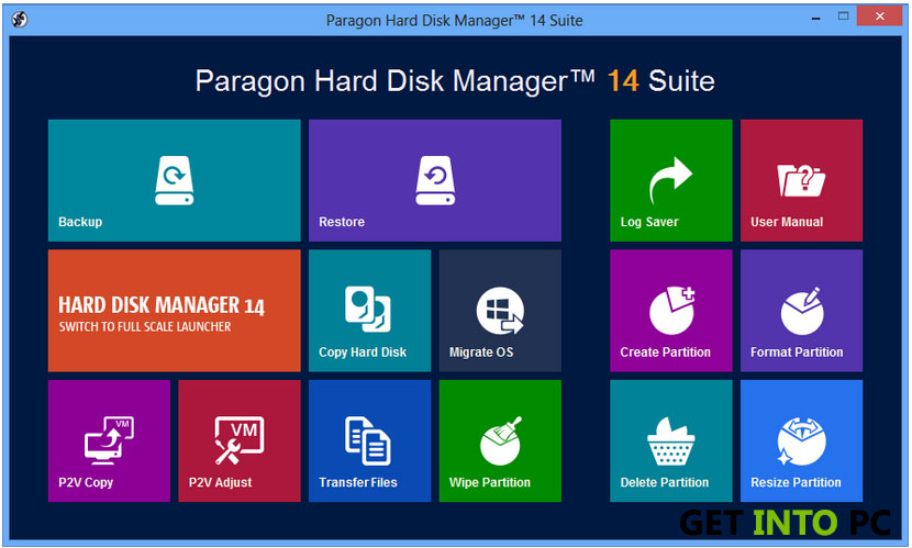 Paragon Hard disk manager Feature