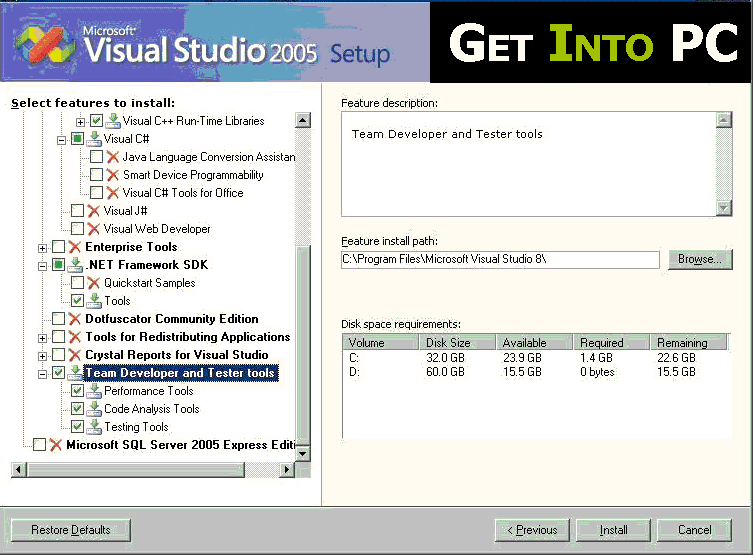 Visual Studio 2005 Free Download