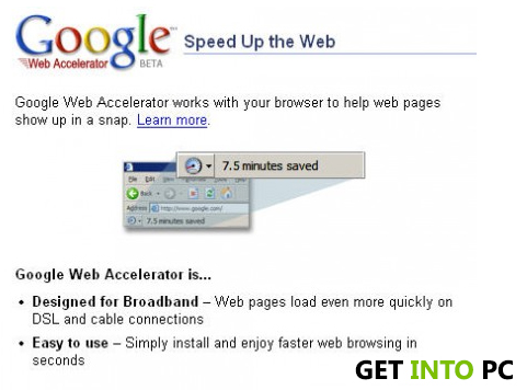 google wb accelerator free download Features