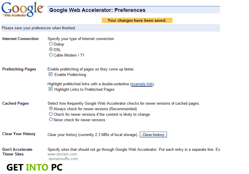 google wb accelerator technical requirement