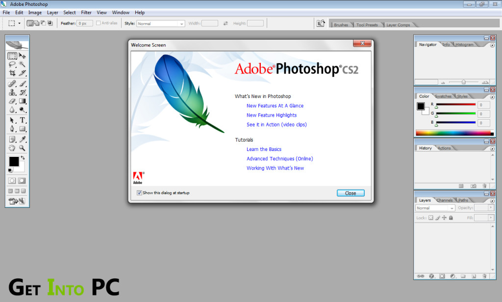 Adobe photoshop CS2 Features