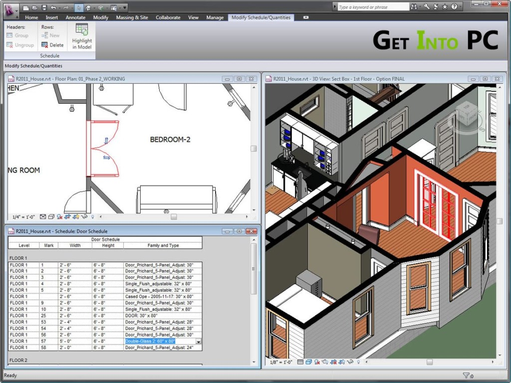 Autodesk Revit Architecture 2014 Features