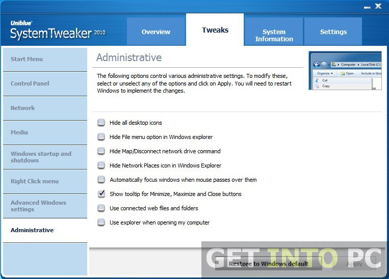 Uniblue System Tweaker Download For Free