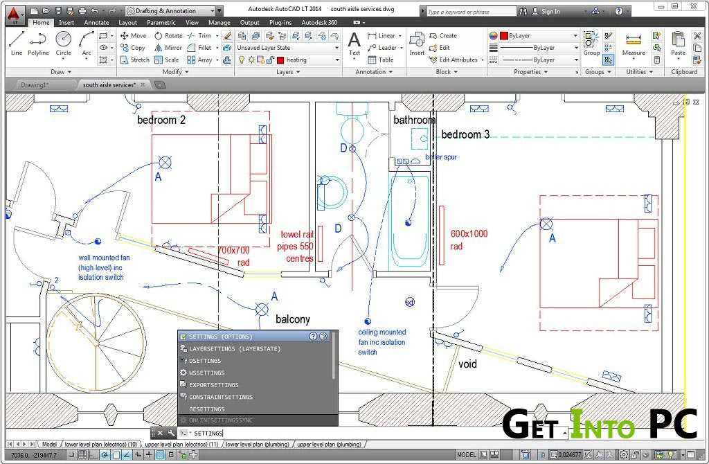 autoCAD MEP 2014 Features