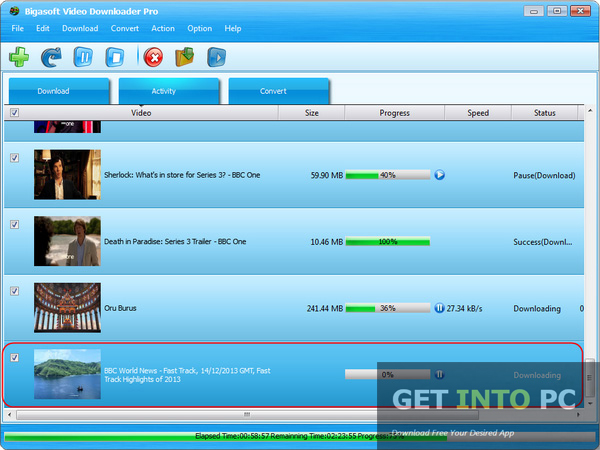 Bigasoft Video Downloader Pro Free Download