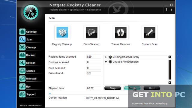 NETGATE Registry Cleaner Setup Free Latest